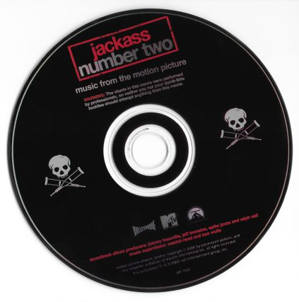 Jackass Number Two Soundtrack, Featuring Josie Cotton, Johnny Knoxville, Smut Peddlers, The Datsuns, Elvis Presley, Pavement, Peaches, The Vandals, Karen O and more